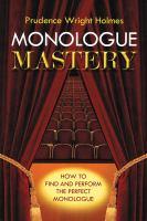 Monologuemastery